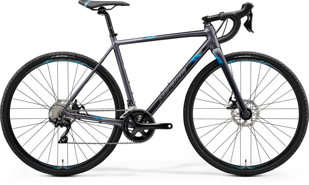 Mission CX 400 Matt Dark Silver / Blue