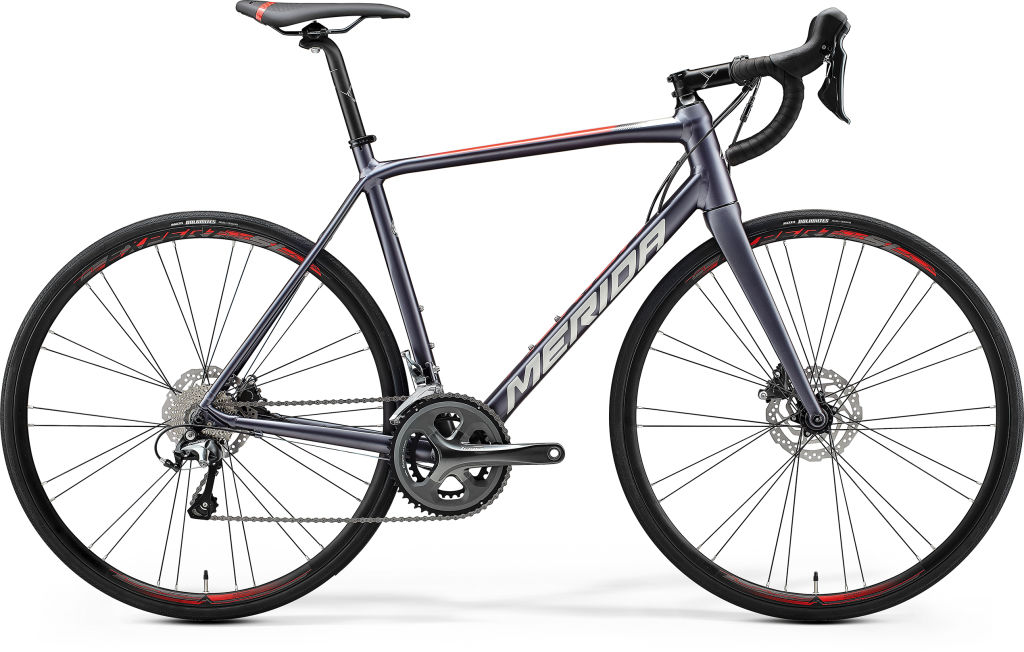 Scultura Disc 300 Silk Anthracite / Race Red